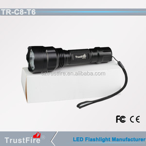 Trustfire C8-T6 led aluminum hot flashlights,rechargeable portable torch,infrared torch