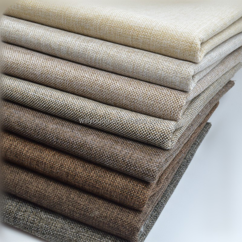 Home Upholstery Fabric Linen Sofa Material Woven Knitted Whole Price Per Meter Chinese Factory