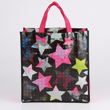 Fashion children cute printing laminated non woven shopping tote bag