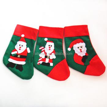 Küçük Yeşil Noel Baba çorap Hediye çantası çocuklar Yılbaşı Dekoru