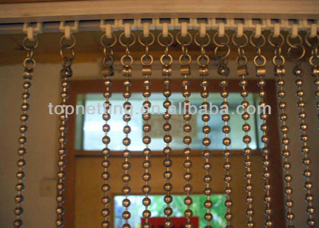 Hanging metal bead room divider/partition - Hanging Metal Bead Room Divider/partition - Buy Hanging Metal Bead