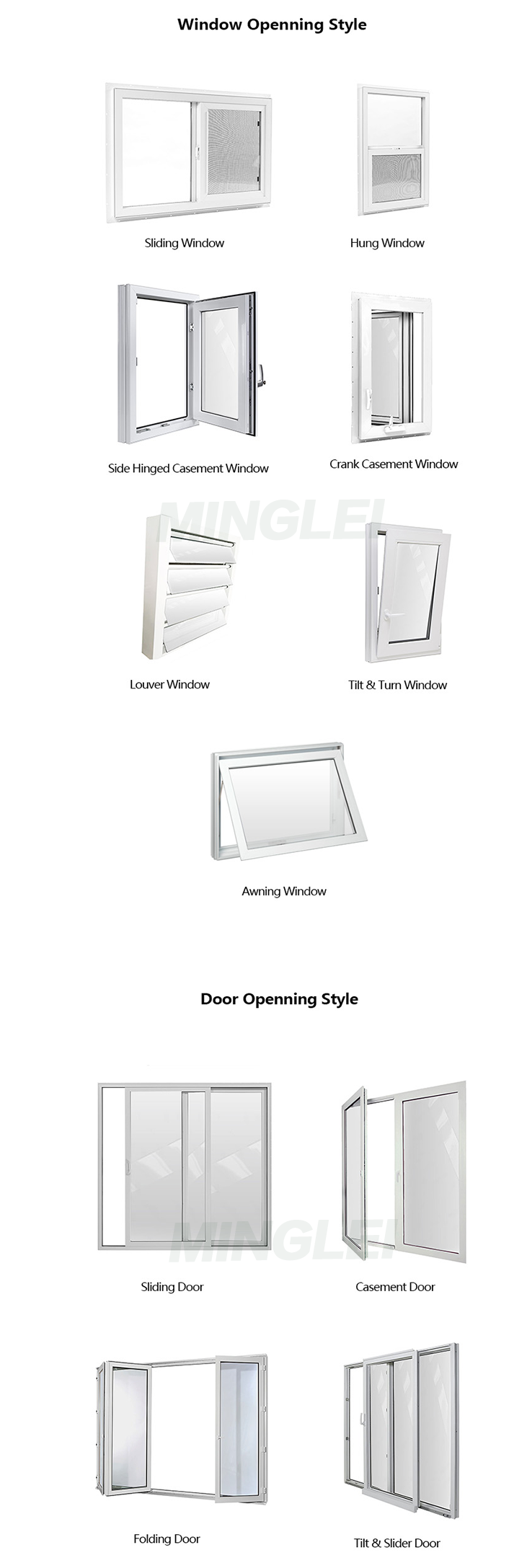 customized vinyl 30 x 30 30 x 48 casement window 30 x 60 casement window