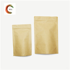 stand up brown paper bag food for nuts packing