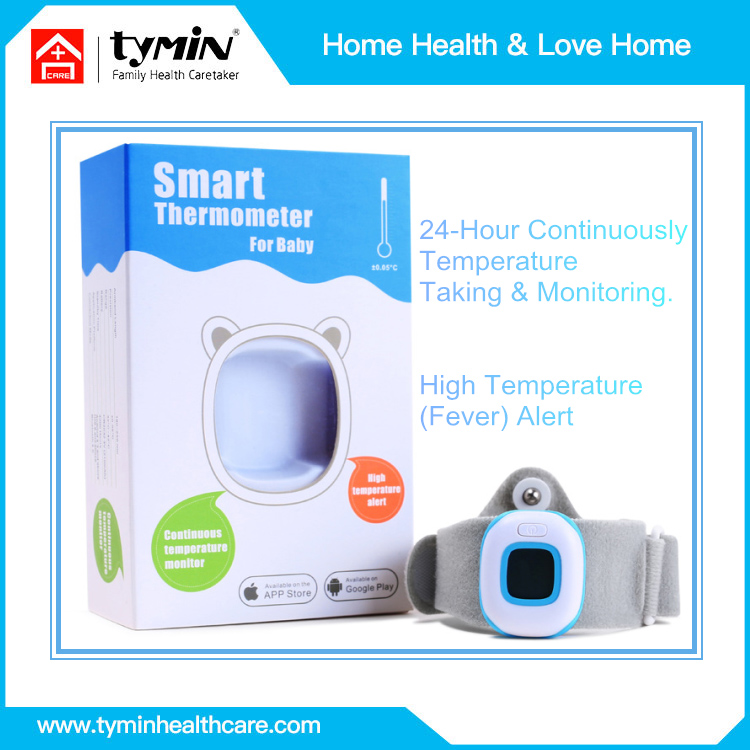 Intelligent bluetooth wireless thermometer baby use medical material