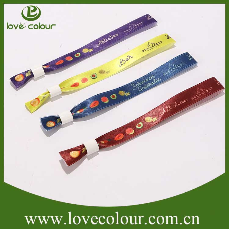 Cheap Printed Fabric/polyester Satin Wristband/bracelet For Events ...