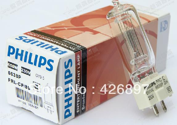Philips 6638P 230V 650W Broadway entertainment lamp,FRL CP/89,film studio video lights,230V650W GY9.5 P3 halogen lighting bulb
