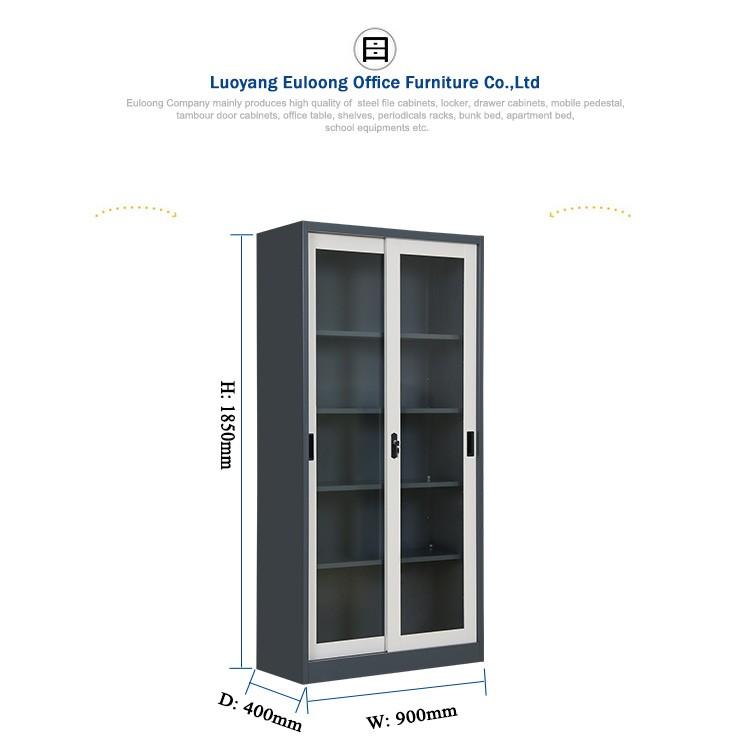 Kitchen Steel Almirah Designs Sliding Glass Door Cupboard With Price