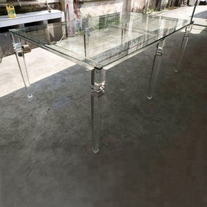 Clear Acrylic Lucite Dining Table