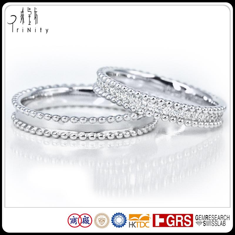 Schmuck deutsch  Reine Hochzeit Ring Sets 18kt Weißes Gold Schmuck Deutsch Mann ...
