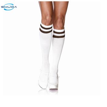 7cf648a01 Sd-0951 White Knee Socks Women Girls White Knee High Socks ...