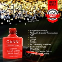 #30917W CANNI 7.3ml glass bottle 214 colors liquid gel nails gel nail polishes