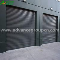 External roll up screen garage door