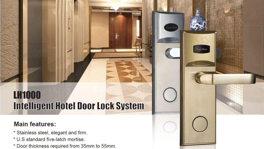 Standardalone electronic hotel key card lock system hotel room door lock