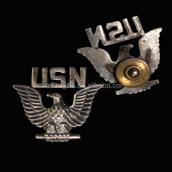 Anti eagle badges, 3D design with screw back