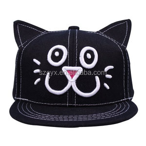 Unisex Kid Child Baseball Cap Snapback Hat Cute Cat Ears Cap