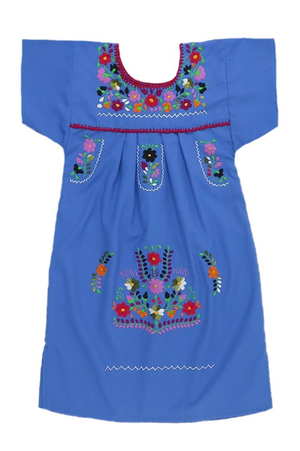 a909b4bc23d Get Quotations · Mexican Clothing Co Little Girls Mexican Dress Traditional  Tehuacan Poplin CT