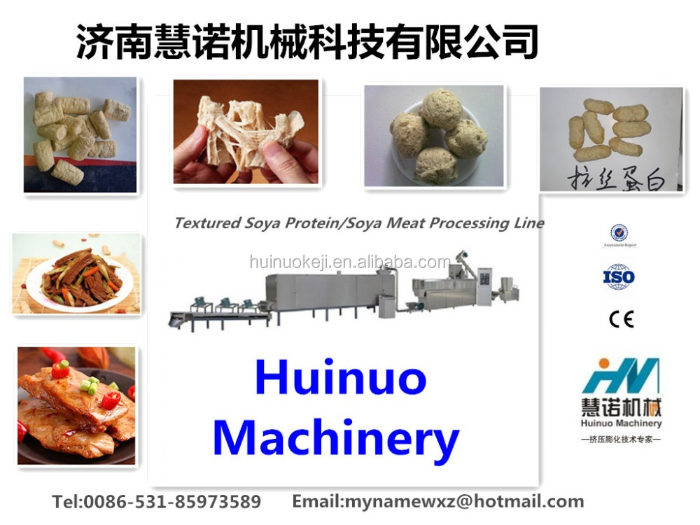 Full-automatic Textured Soya Protein/Vegetarian Soya Meat/Meat Nugget Food Processing Line