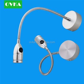 Led Wall Lamp With Switch Model Hotel Bedroom 3w Aluminum Silver ...