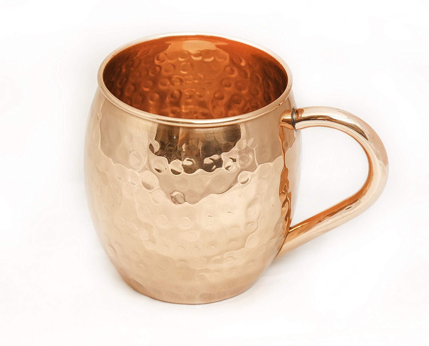 Hammered Copper Moscow Mule Mug - 100% Solid Pure Copper Handmade Tumbler, 16 Oz Capacity No Inner Linings Drinking Cup for Moscow Mule, Cocktail and Cold Drinks
