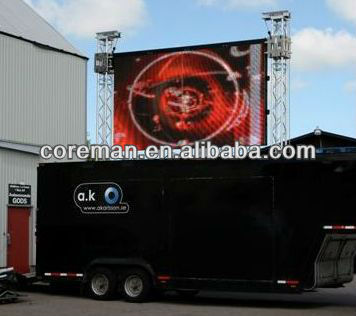 ali trade good investment products good price mobile waterproof ip65 trailer/vehicle/truck led display boar