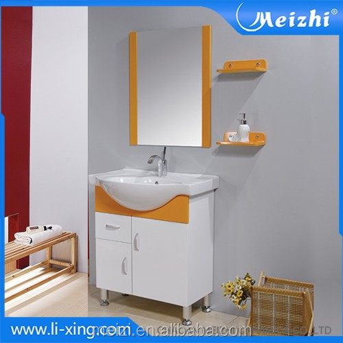 sanitary ware cream color bathroom cabinet