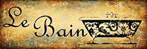 Le Bain Metal Sign, The Bath, French, Country Decor, Kitchen Decor
