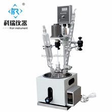 1L,2L,3L,5L Mini Chemical Lab Jacketed Glass Reactors price for sale