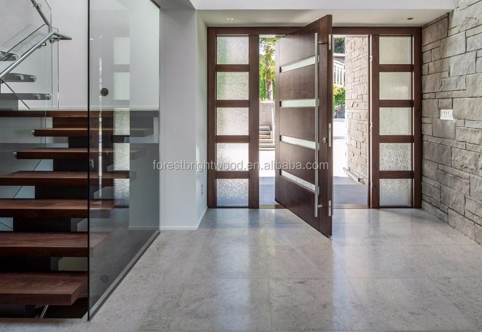 nous villa principale porte d 39 entr e moderne conception pivot portes en bois avec feux de. Black Bedroom Furniture Sets. Home Design Ideas