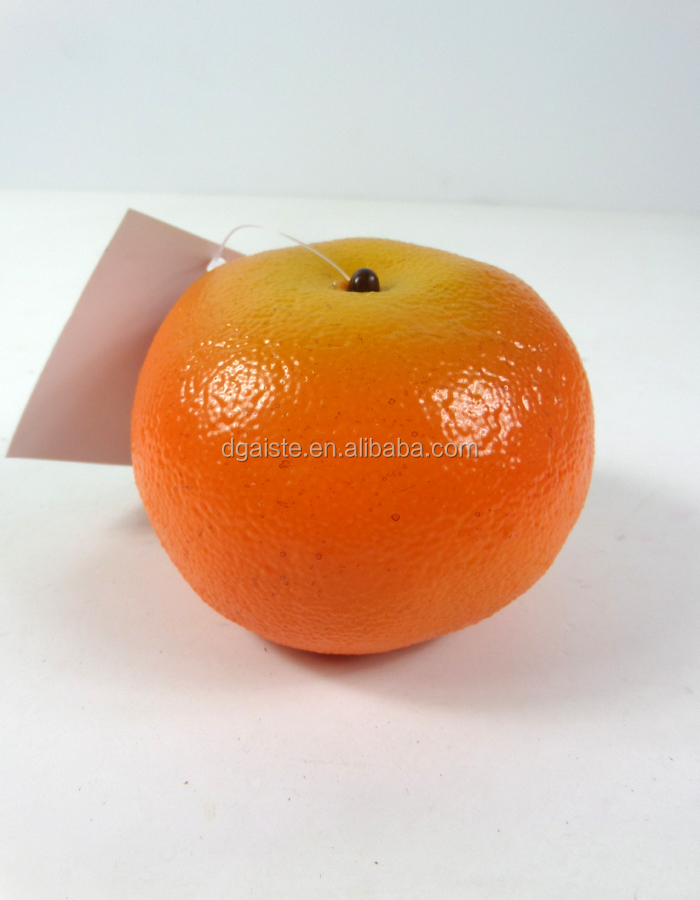 Artificial plastic orange for decoration fake fruit buy for Fruit orange decoration