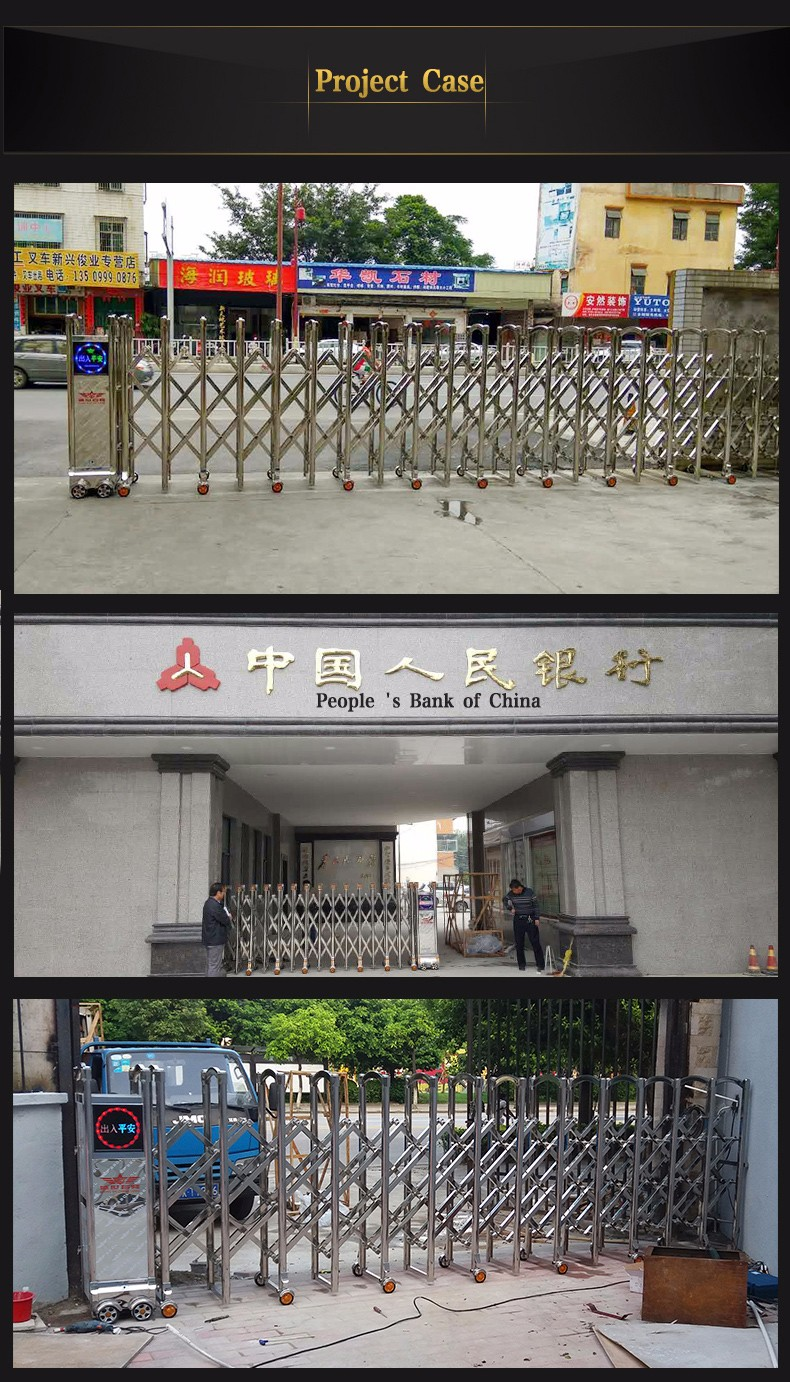 Stainless steel front gate for factory main gate designs for Sliding gate motor price in india