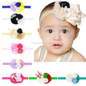7a452df0a149 fancy stretch satin flowers headbands pattern for kids