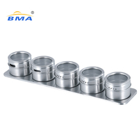 Magnetic Spice Jar Stainless Steel Condiment Sets, Condiment Jar