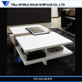 Moderne Salon Meubles Table Basse En Marbre Blanc Buy Table Basse