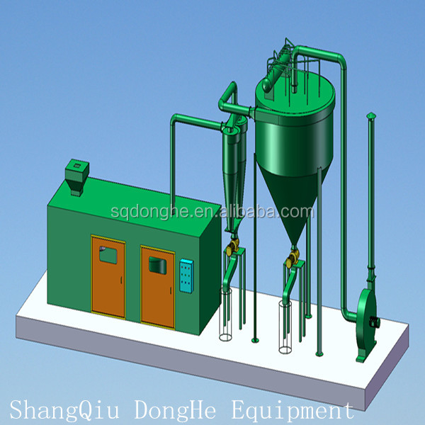 carbon black refinery plant from used tyre pyrolysis machinery