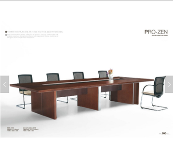 Modern Stainless Steel Office Furniture Mdf Wood Veneer Conference - Wood veneer conference table