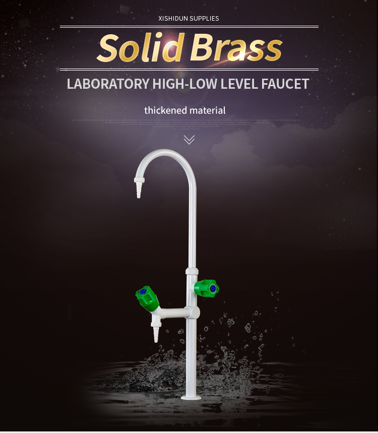 2207 High and low level Gooseneck tube Lab furniture Brass Water Tap Faucet