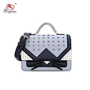 HD33-059 Sourcing Hollow messenger bags cat face flap quality purse