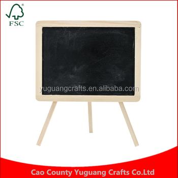Custom Natural Solid Wood Frame Wood Craft Diy Chalkboard Easel ...
