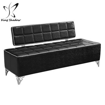 Pink Salon Modern Sofa High Back Bench