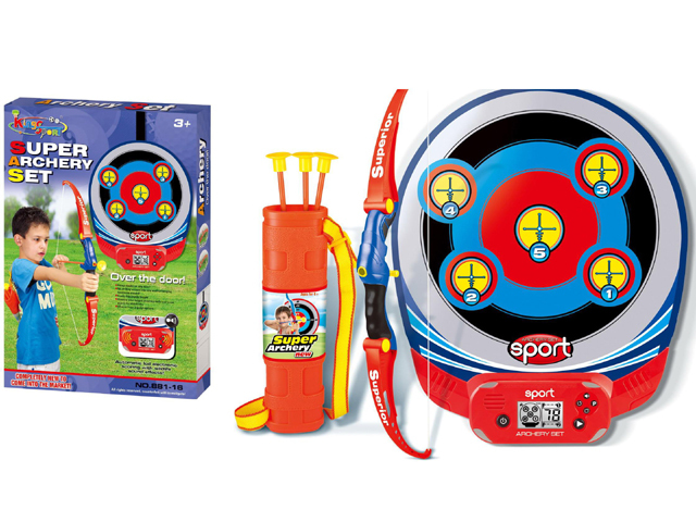 Children playing toy archery bow set