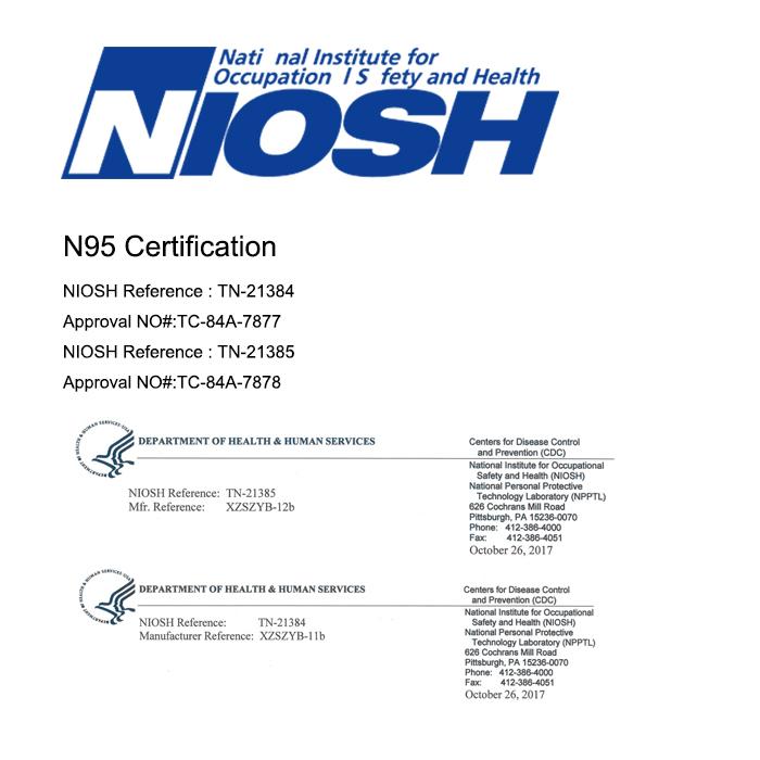 niosh certified n95 masks