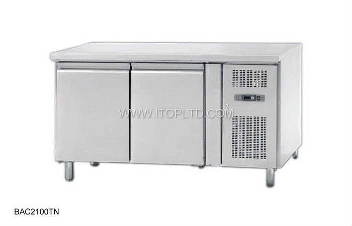 2 doors air-cooled refrigerated chest freezer