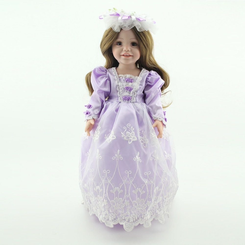 "2015 New Purple Wedding Dress Clothes Fit American Girl Luxury 18"" Inches Girl Dolls Accessories Party Dress"