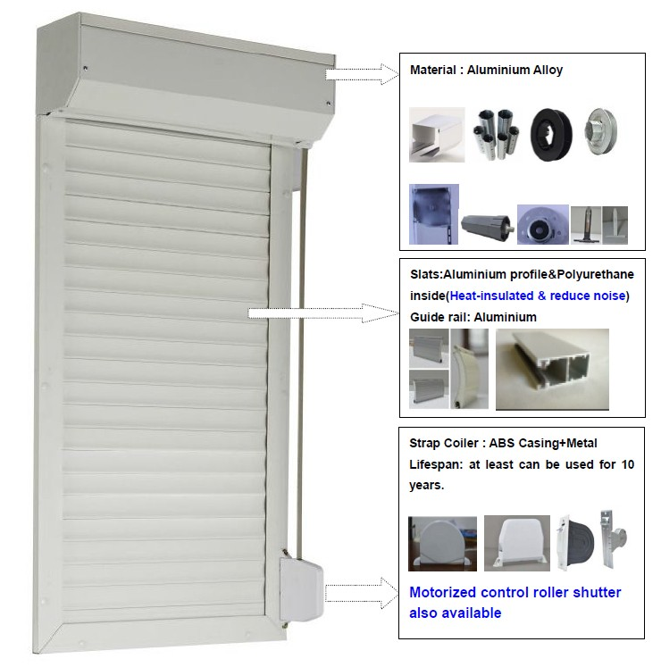 Manual Roller Shutters Accessories Crank For Shutter