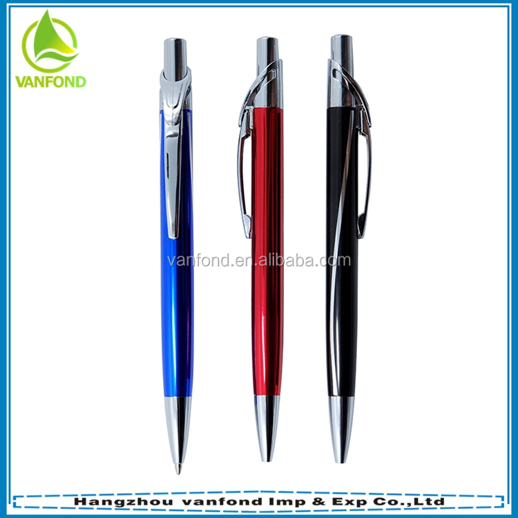 China wholesale promotional luxury metal ballpoint pen with custom logo