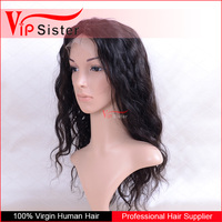 Wholesale Body Wave 100 Percent Indian Remy Human Hair Silk Top Full Lace Wigs