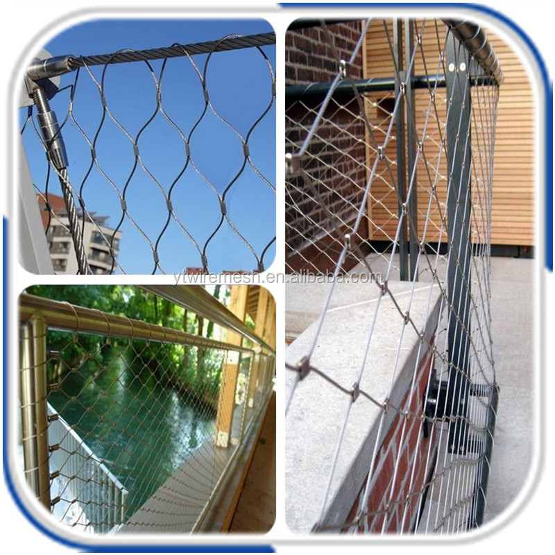 Alibaba Gold Supplier Stainless Steel Wire Rope Net For Balustrade ...