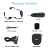 2.4G bluetooth wifi headset black headset microphone for fitness instructor teacher outdoor performance