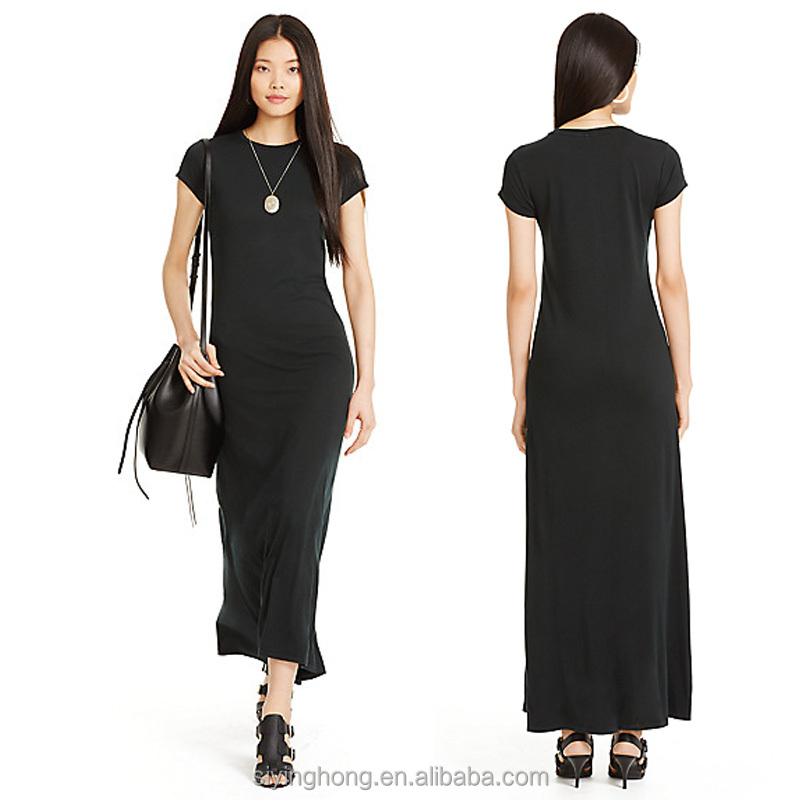 Alibaba OEM service high quality 100% cotton maxi dress women