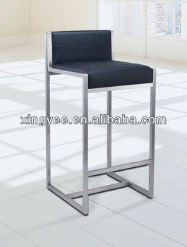 Modern bar chair furniture counter stool home goods high chair brushed stainless steel bar stool genuine